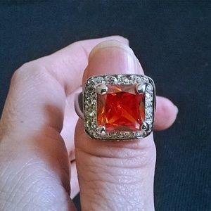 NWOT - Fiery Orange Crystal Ring